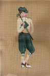 Golfer Needlepoint Canvas - 18 ct