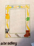 Baby Bear Announcement/Frame 14 ct