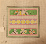 Bunny and Butterflies Needlepoint - 13 ct (SKU: Bunnies197)
