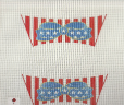 Red White Blue Shoe Flaps Needlepoint - 18 ct
