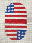 Flag Coin Purse Needlepoint Canvas - 18 ct