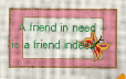 A Friend In Need Needlepoint Canvas - 14 ct