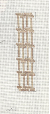 Golf Tees Bookmark Needlepoint Canvas - 18 ct