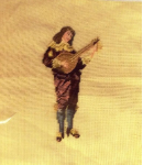 Mandolin Player - Pre-Stitched