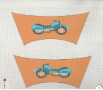 Motorcycle Shoe Flaps Needlepoint - 18 ct