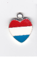 Red White and Blue Heart Charm