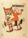 Rockin Retirement Needlepoint  - 12 ct