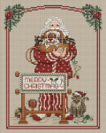 Stitching Santa Chart with Charms