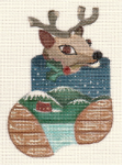Woody Reindeer Mini Stocking 18 ct