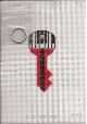 Key Shaped Key Chain, Red and Black 18 ct