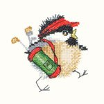 Chickadees: Golfing Chick Cross Stitch Pattern