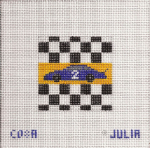 Race Car 2 Needlepoint Canvas 10 ct