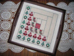 Christmas Log Cabin Quilt Square