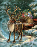 Enchanted Christmas Reindeer Cross Stitch Pattern