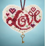 Love Counted Glass Bead Kit with Charm