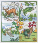 Nature Seasons Cross Stitch