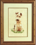 Sara - Wire Haired Terrier Cross Stitch