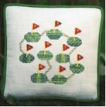 Watercolour Golf Cross Stitch Pattern
