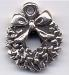 Christmas Wreath Sterling Charm