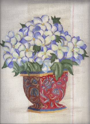 Flowers in Vase 14 ct