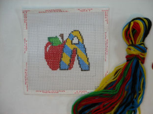 A is for Apple Needlepoint Kit - Beginner