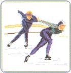 Speed Ice Skating Cross Stitch Kit