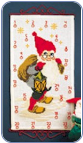 Santa Elf With Lantern Advent Calendar Kit