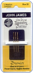 Gold Plated Petite Tapestry Needles  22 - John James