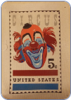 Circus Clown Stamp Needlepoint - 13 ct