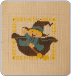 Eek Witch Needlepoint - 10 ct