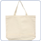 "Large Canvas Tote Bag - 18"" x 16"" (SKU: 1816totebag)"