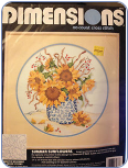 Summer Sunflowers Cross Stitch Kit