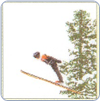 Ski Jumping Cross Stitch Kit
