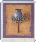 Botanical Pod Needlepoint Canvas - 18 ct