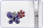 Butterfly Charm - Lavender with Red Flower (SKU: Butterfly Charm)