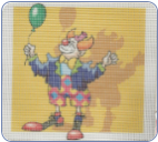 Clown Performing 13 ct