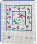 Coaster Set Needlepoint Canvas  - 18ct