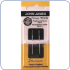 Embroidery Needles Size 26 - Platinum for XStitch John James