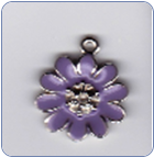 Lavender Purple Flower Charm (SKU: LavFlowerCharm)