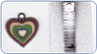 Multi Color Heart Charm (SKU: MultiHeartCharm)