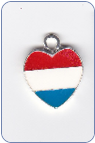 Red White and Blue Heart Charm (SKU: RWBHeartCharm)