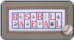 Baseball MiniBlock With 8 Charms