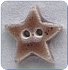Very Small Brown Star Button (SKU: StarButtonVSmBrown)