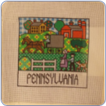 Pennsylvania Needlepoint Canvas - 12 count