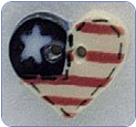 Small Flag Heart Button (SKU: SmFlagHeart86125)