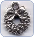 Christmas Wreath Sterling Charm (SKU: CmasWreathCharm)