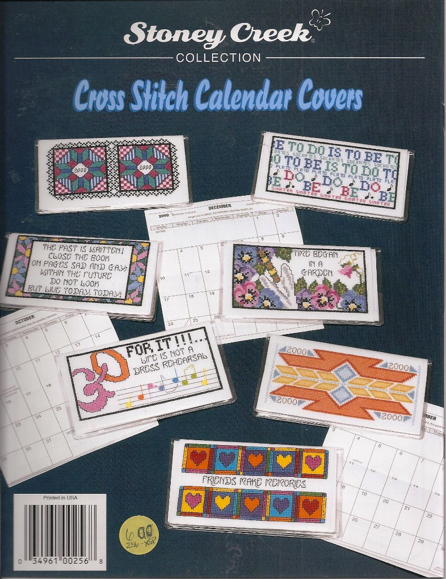 Calendar Book Covers : Counted cross stitch calendar or check book covers