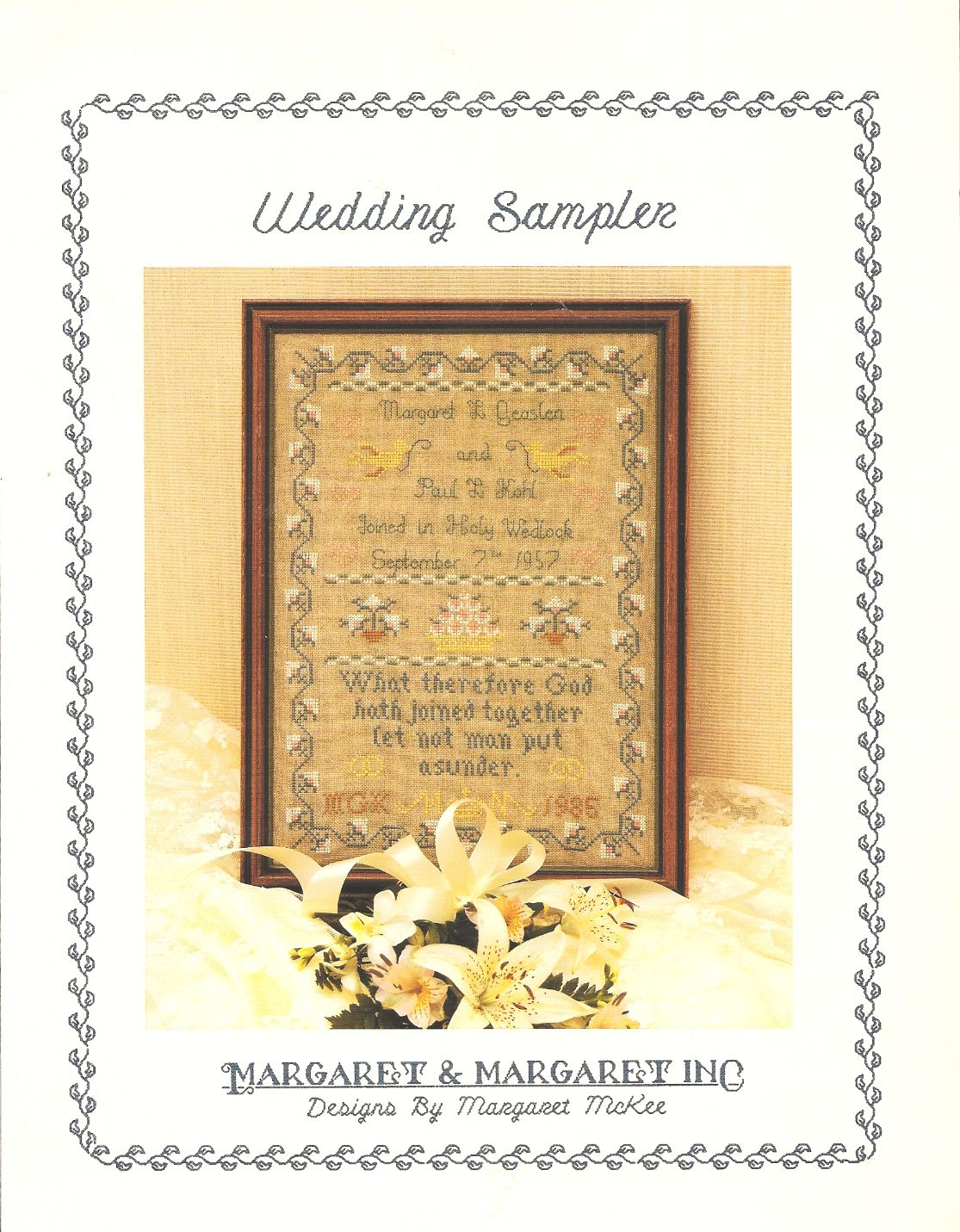 wedding sampler cross stitch